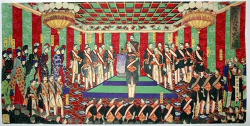 3003: CHIKANOBU , WOODBLOCK PRINT, 'CONSTITUTIONAL LAW