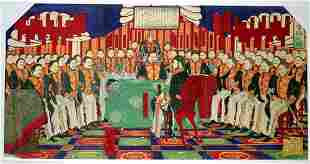 TOYOHARU CHIKANOBU, WOODBLOCK PRINT, 'IMPERIAL PA