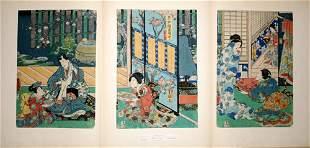 TOYOKUNI III , WOODBLOCK PRINT, 'GENJI-E', 14 1/2