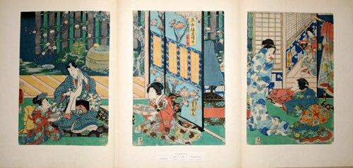 3011: TOYOKUNI III , WOODBLOCK PRINT, 'GENJI-E', 14 1/2