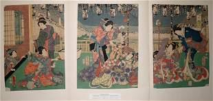 TOYOKUNI III , WOODBLOCK PRINT, 'BIJIN', C. 1820,