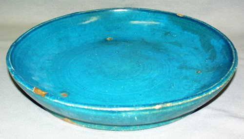 3023: MING DYNASTY FA WAH TURQUOISE POTTERY LOW BOWL, C