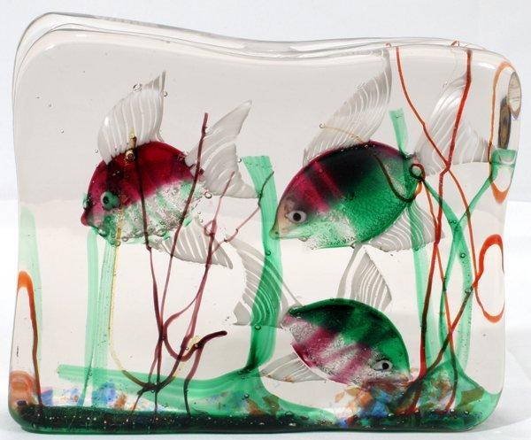 """070010: GINO CENEDESE,ITALIAN GLASS,FISH BOWL, H6"""""""