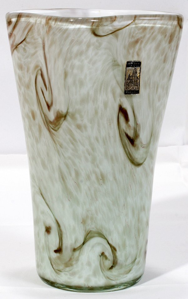 070011: FRATELLI TOSO STARRY NIGHT GLASS VASE, C.1950
