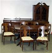 070045: DUNCAN PHYFE STYLE DINING TABLE EARLY 20TH C.