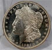 070136: US MORGAN STERLING SILVER DOLLAR MS-63, 1921