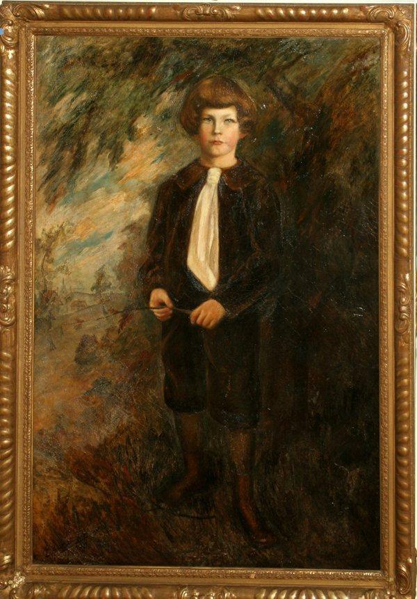 072023: E. HUNTINGTON RIGGS, OIL ON CANVAS, 1915
