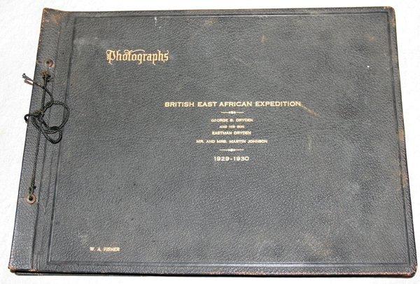 072461: PHOTO ALBUM OF BRITISH E.AFRICAN EXPEDITION