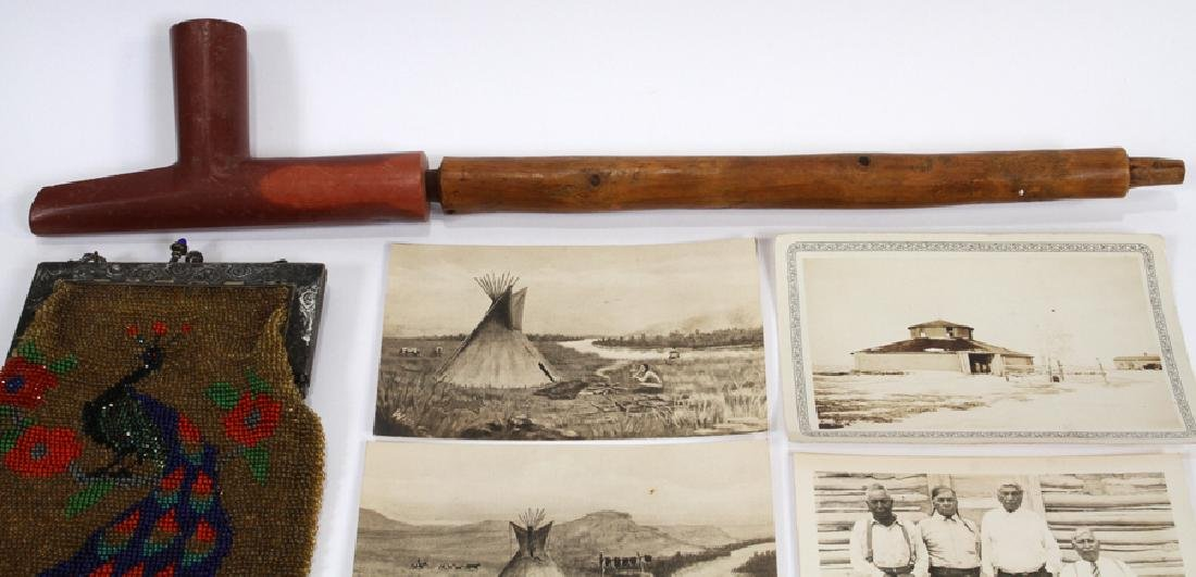 NATIVE AMERICAN RAWHIDE CLOTHING, PIPE ECT. - 5