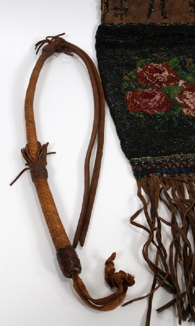 NATIVE AMERICAN RAWHIDE CLOTHING, PIPE ECT. - 7