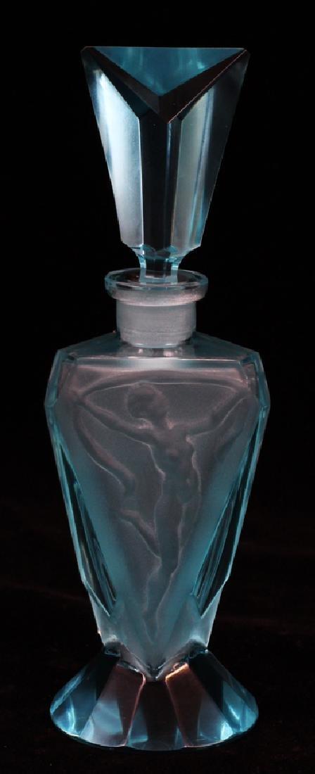 "GLASS PERFUME BOTTLE, H 6 1/2"", DIA 2"""