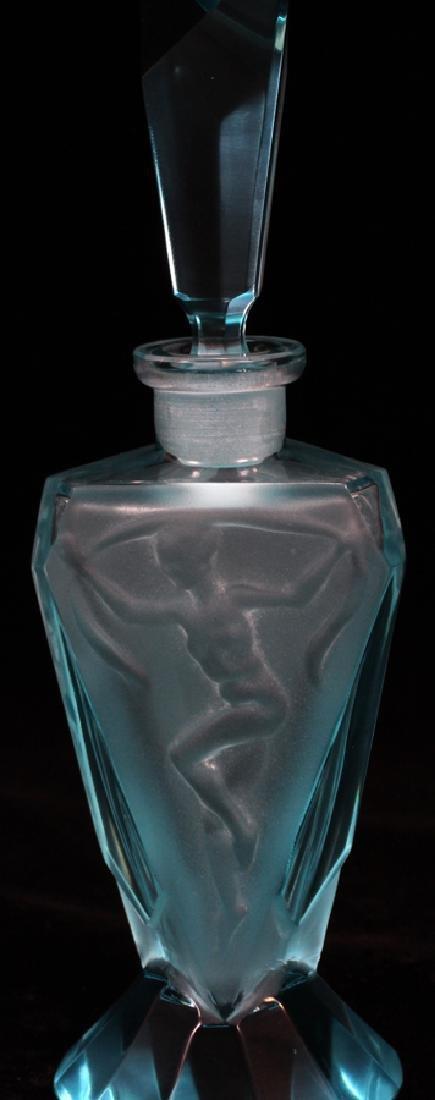 "GLASS PERFUME BOTTLE, H 6 1/2"", DIA 2"" - 3"