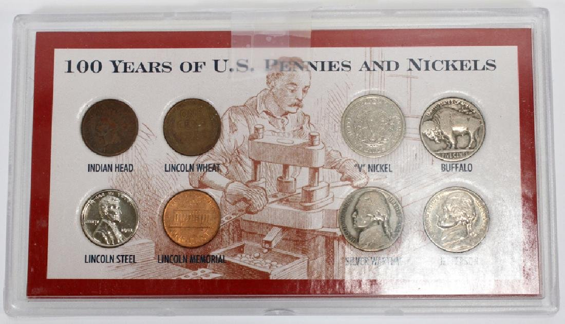 U.S. PROOF, MINT & CIRCULATED COIN-SETS(10) SETS. - 10