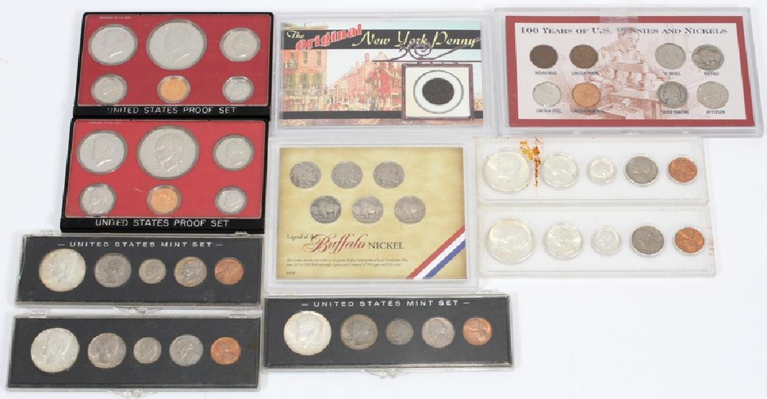 U.S. PROOF, MINT & CIRCULATED COIN-SETS(10) SETS.