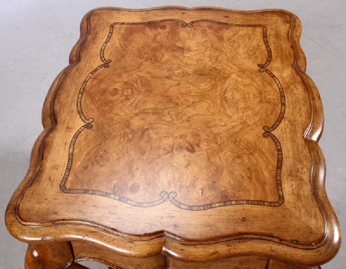 THOMASVILLE, BURLED WALNUT, SIDE TABLE - 2
