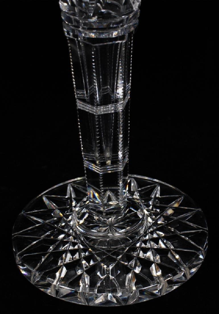 """HAWKES CUT GLASS VASES, C1900, 2 PCS, H 12"""", DIA 4 1/2"""" - 3"""