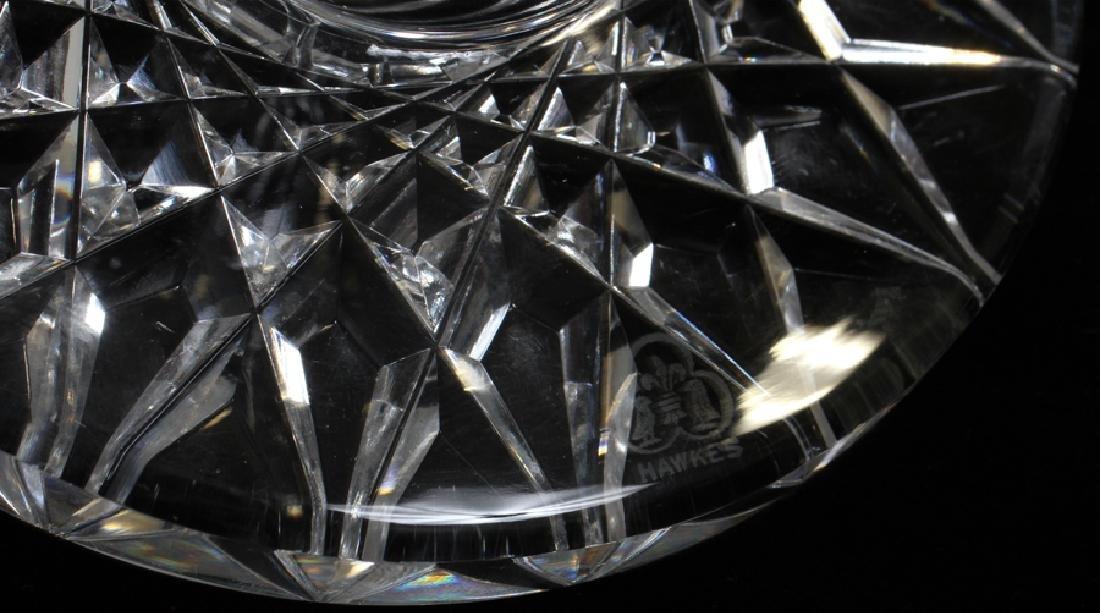 """HAWKES CUT GLASS VASES, C1900, 2 PCS, H 12"""", DIA 4 1/2"""" - 4"""