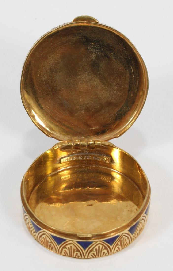 TIFFANY & CO. 18KT ITALY YELLOW GOLD & ENAMEL SNUFF BOX - 4