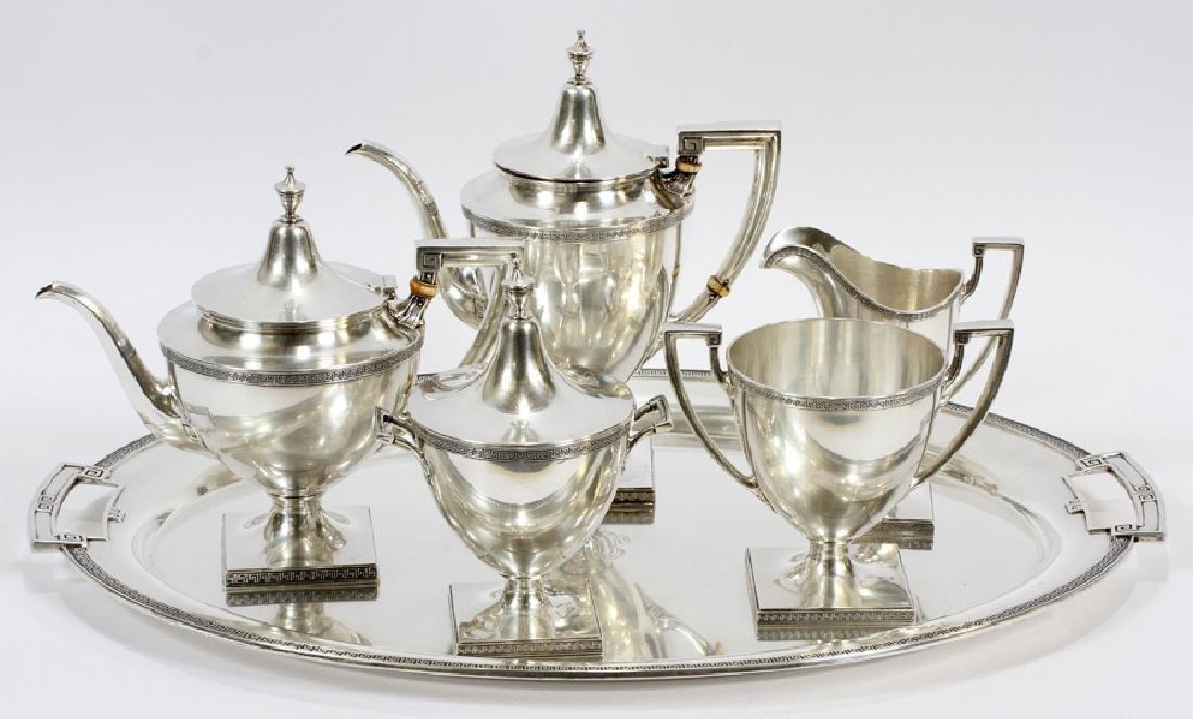 GORHAM STERLING SILVER 5 PC. TEA & COFFEE SERVICE