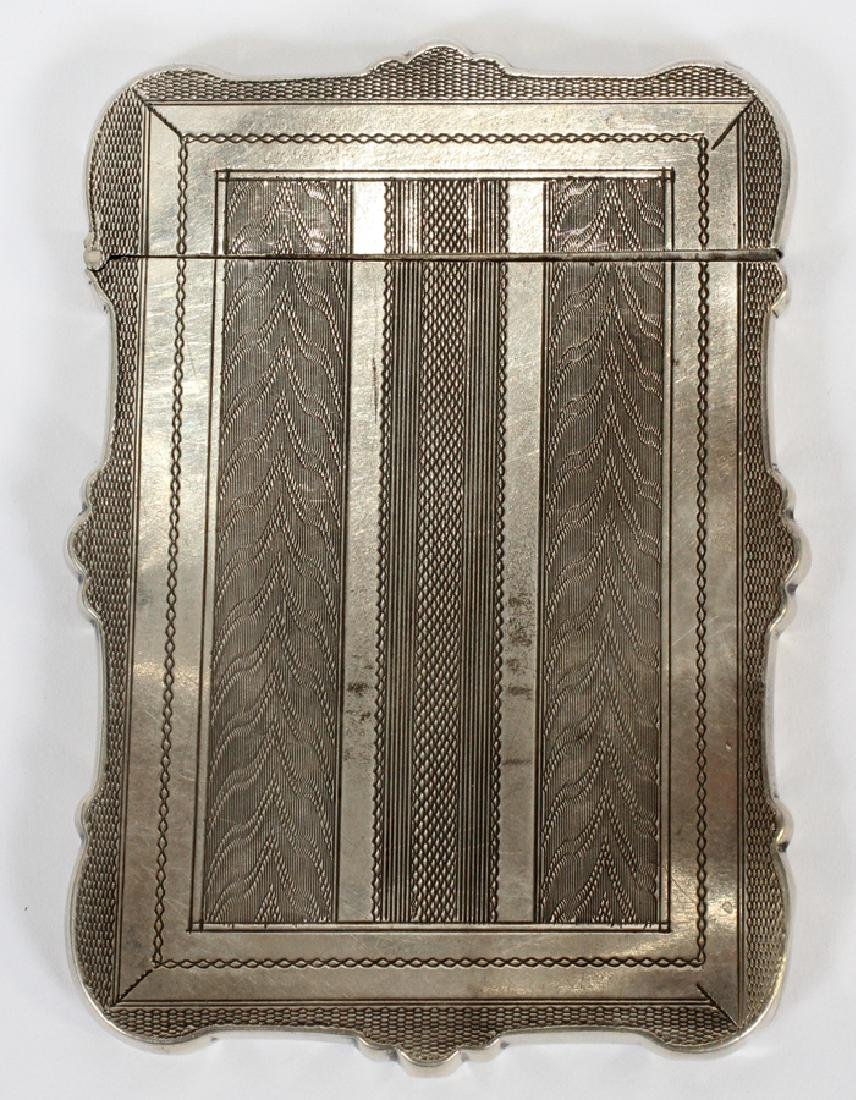 STERLING SILVER ALBERT COLES & CO CARD CASE - 3