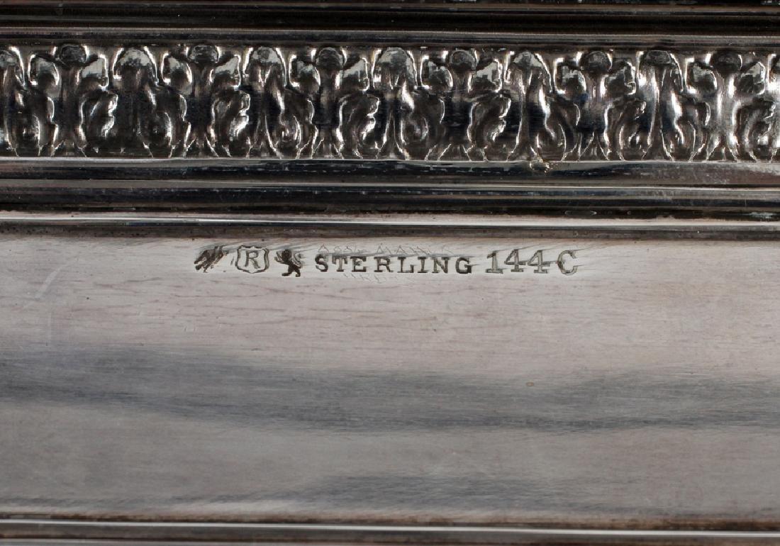 REED & BARTON STERLING SILVER WALTHAM MANTEL CLOCK - 4