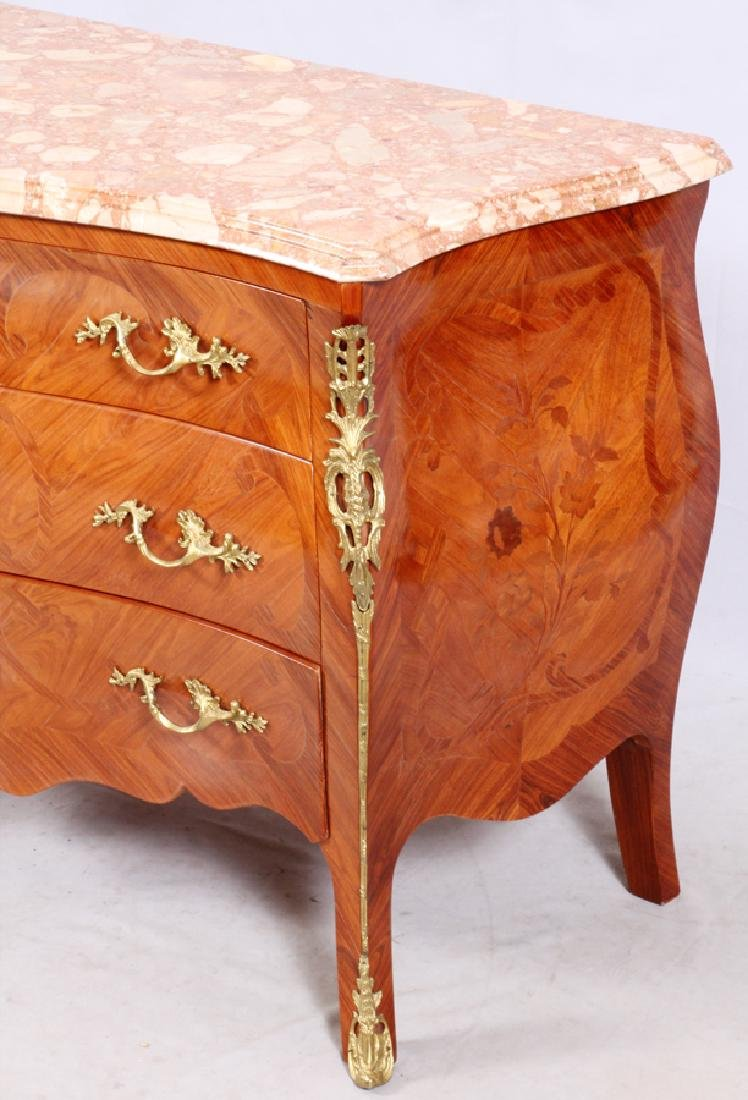 LOUIS XV STYLE MARQUETRY CHEST OF DRAWERS - 2