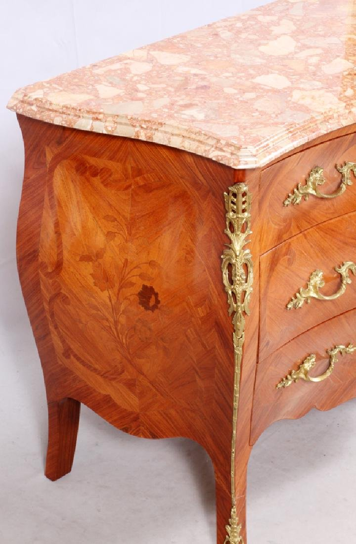 LOUIS XV STYLE MARQUETRY CHEST OF DRAWERS - 3