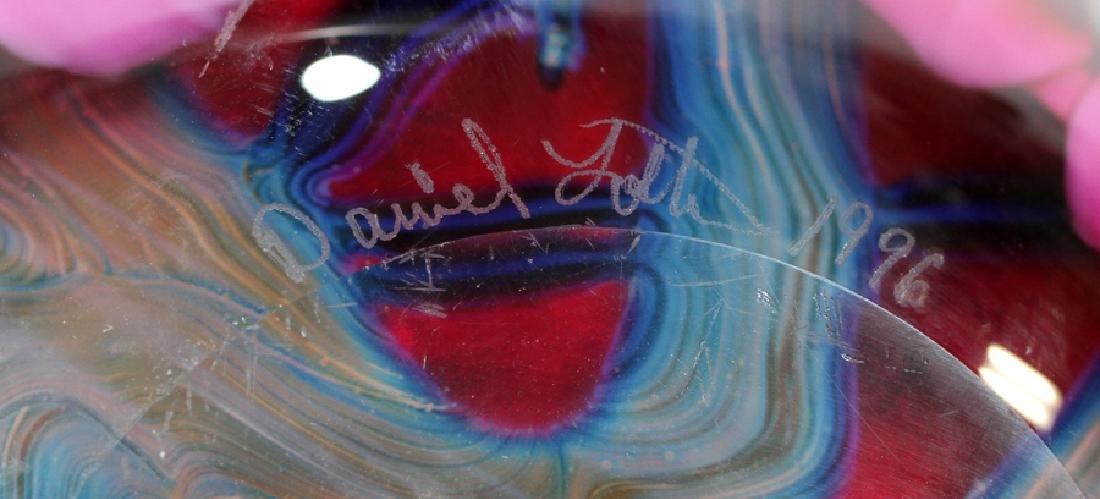 "DAVID LOTTON ""MULTI-FLORA"" ART GLASS VASE - 4"