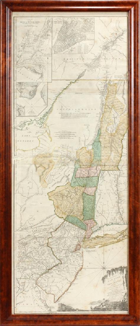 CAPTAIN SAMUEL HOLLAND HAND ENGRAVED MAP, 1775