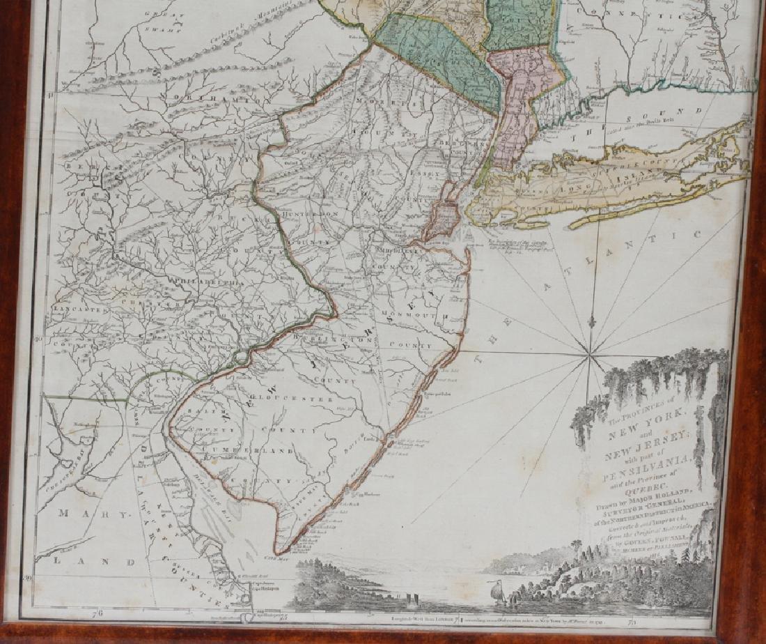 CAPTAIN SAMUEL HOLLAND HAND ENGRAVED MAP, 1775 - 5