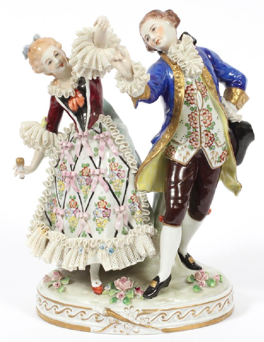 SITZENDORF 'COUPLE DANCING' PORCELAIN FIGURE
