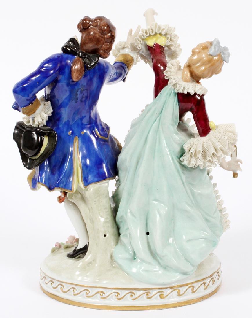 SITZENDORF 'COUPLE DANCING' PORCELAIN FIGURE - 2