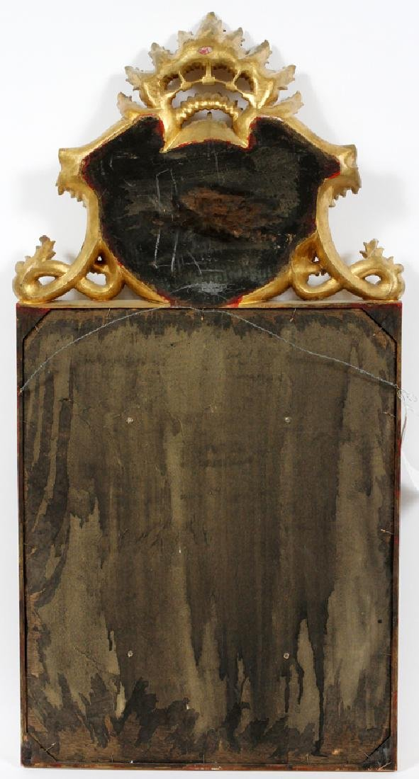 ROCOCO STYLE GILT & PAINTED PORTUGUESE WALL MIRROR - 3