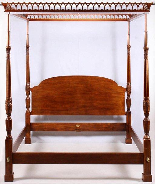 Henredon Natchez Mahogany Canopy Bed Dec 15 2018 Dumouchelles
