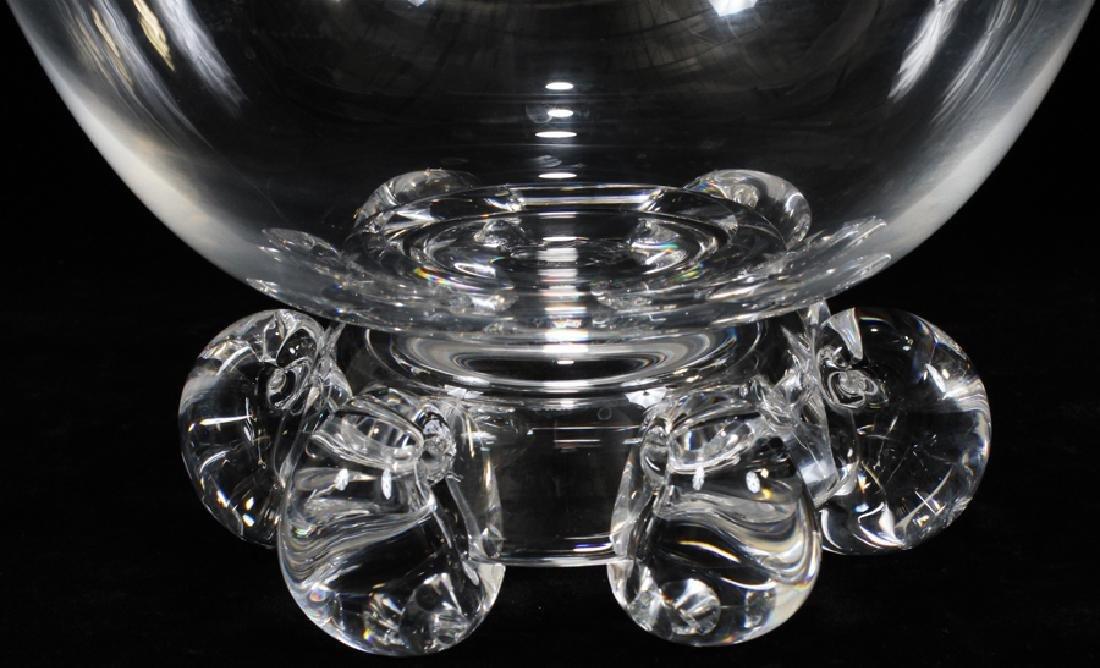 """STEUBEN GLASS BOWL H 7"""" DIA 9"""" - 2"""