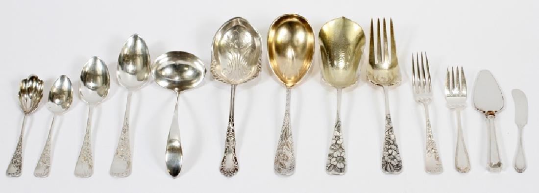 STERLING SILVER ASSORTED FLATWARE, 60 PCS