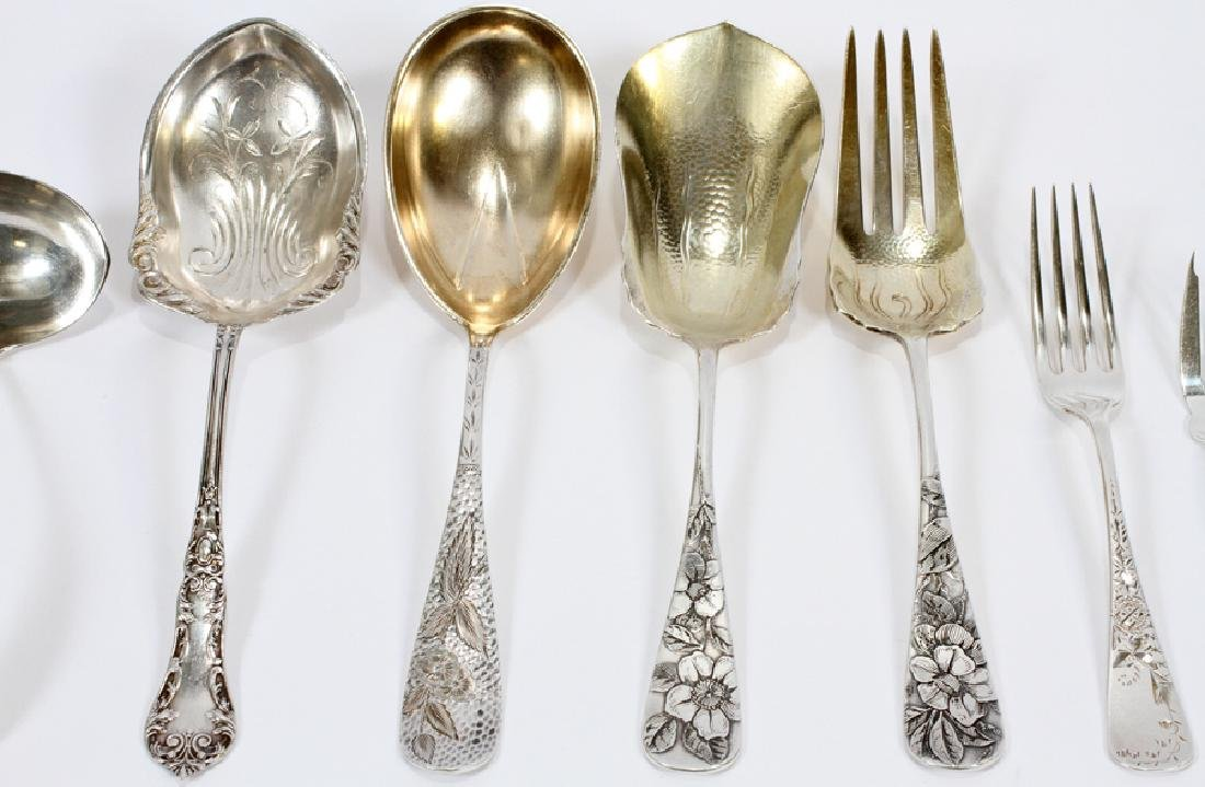 STERLING SILVER ASSORTED FLATWARE, 60 PCS - 3