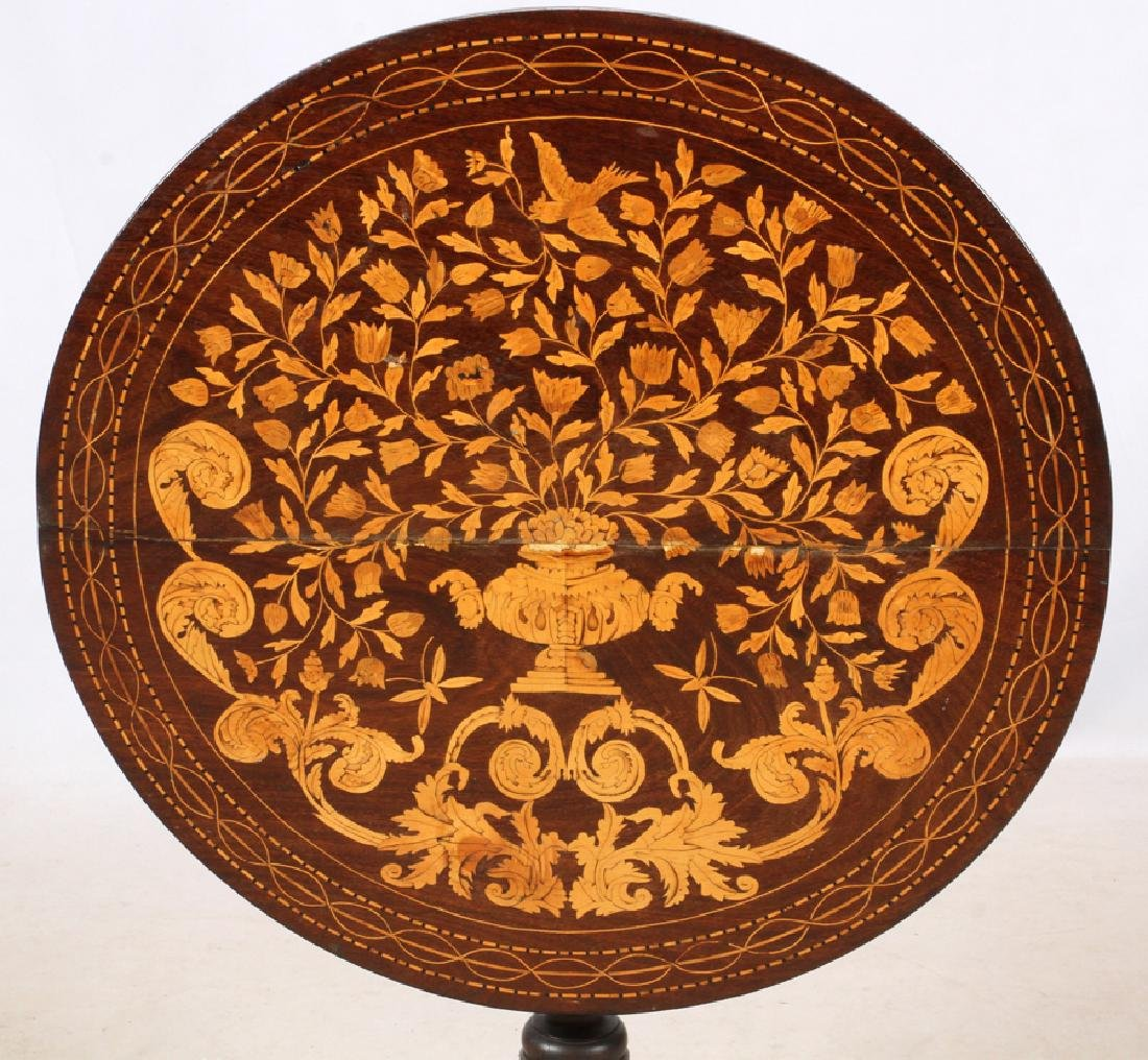 ENGLISH MARQUETRY TILT TOP TABLE, 19TH.C. - 2