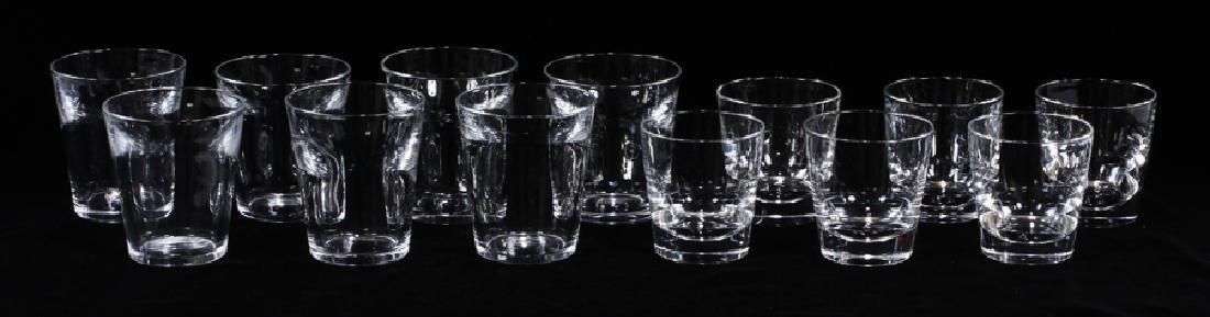 STEUBEN ROCKS GLASSES, SET OF 13