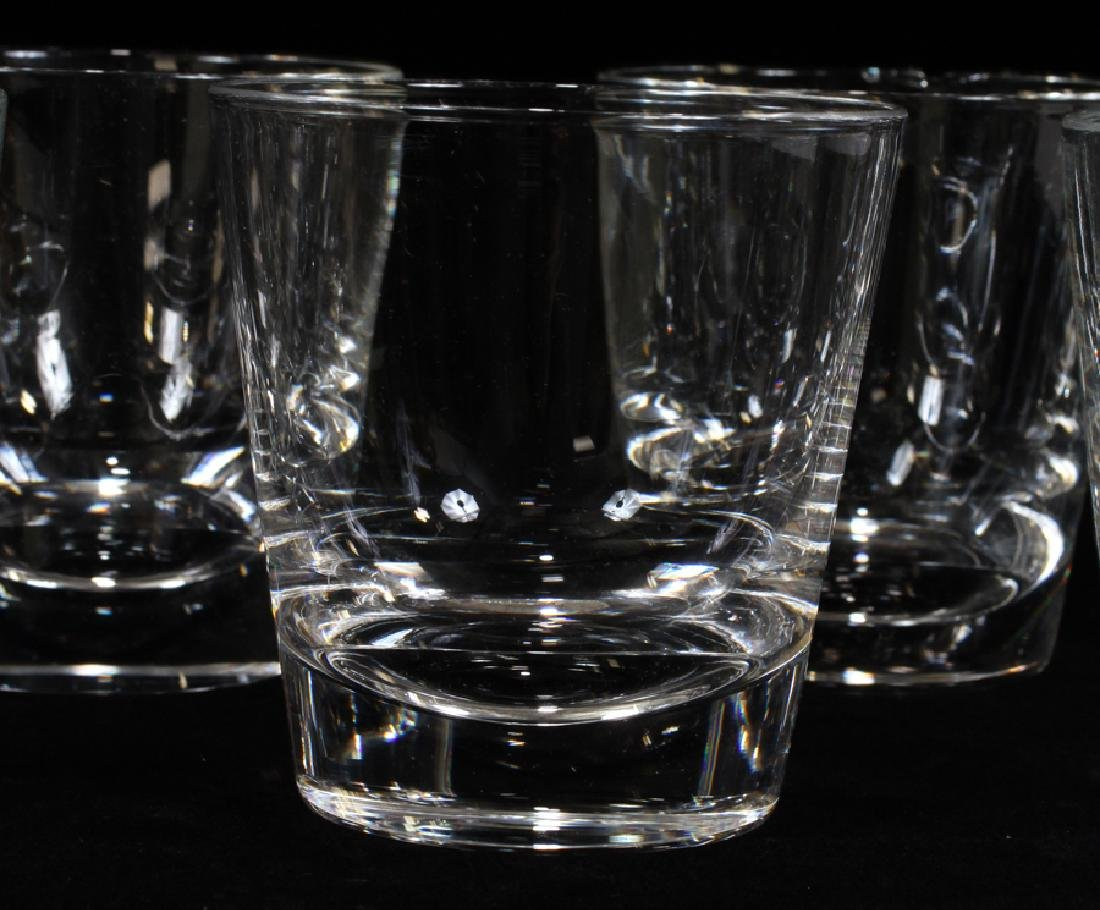STEUBEN ROCKS GLASSES, SET OF 13 - 4