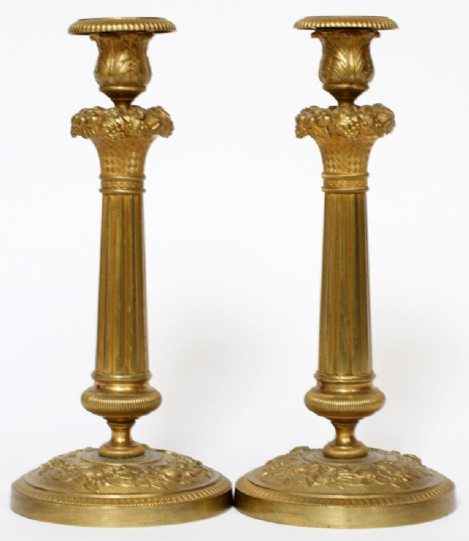 SINGLE LIGHT CANDLE HOLDERS, PAIR