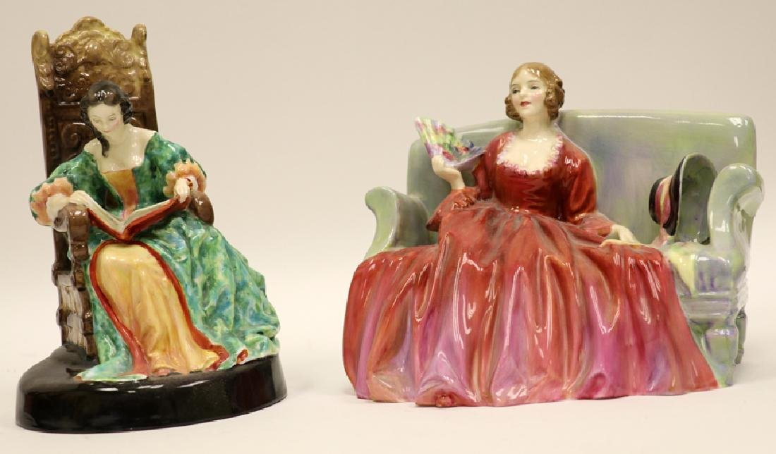 ROYAL DOULTON PORCELAIN FIGURINES, 2 PCS
