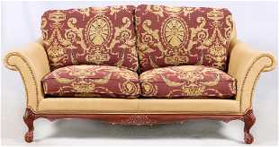 Han Moore Leather Sofa Chair Ottomans