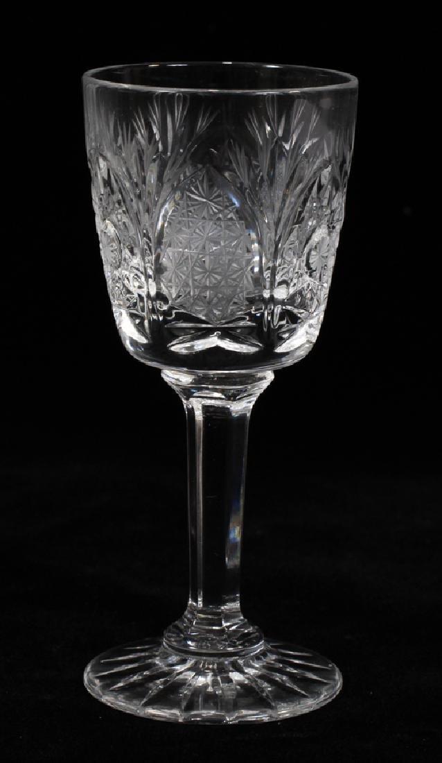 CZECHOSLOVAKIA HAND CUT WINE GOBLETS, LIQUORS - 3