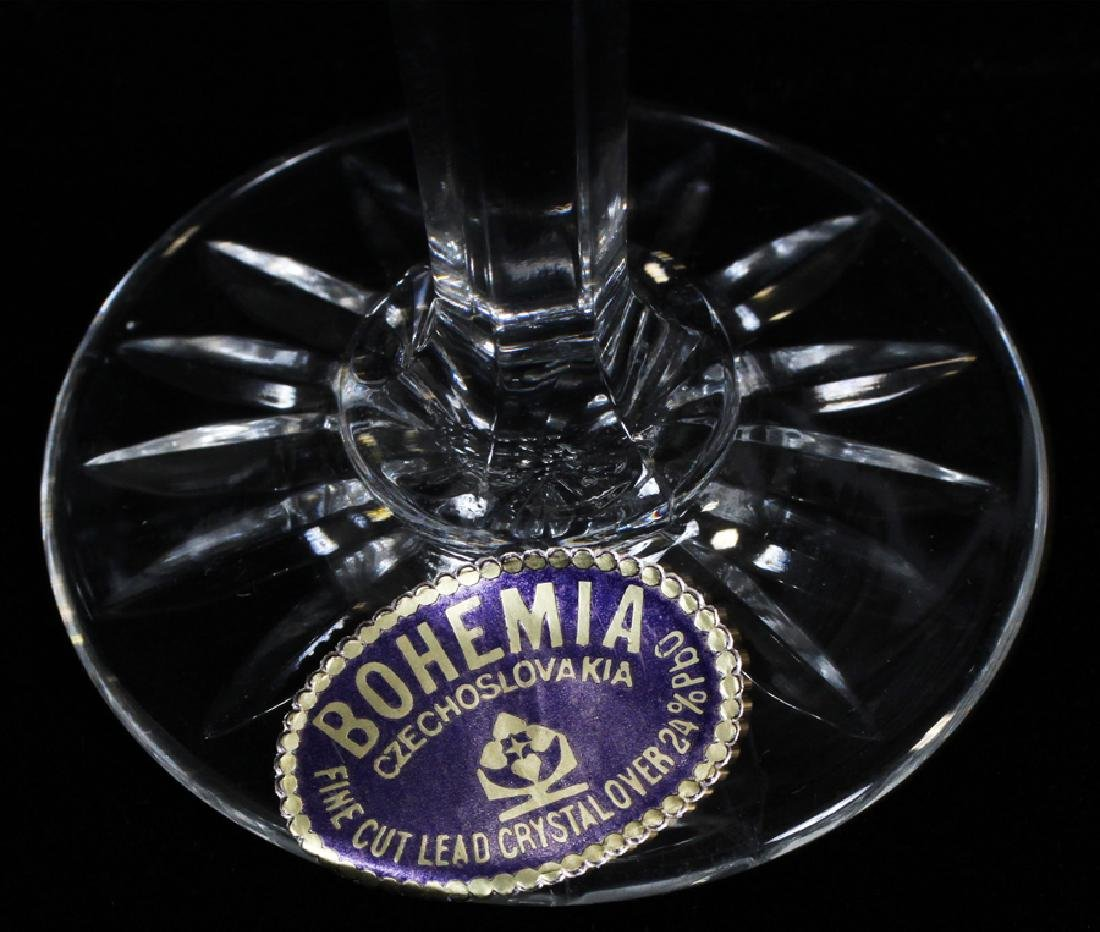 CZECHOSLOVAKIA HAND CUT WINE GOBLETS, LIQUORS - 4