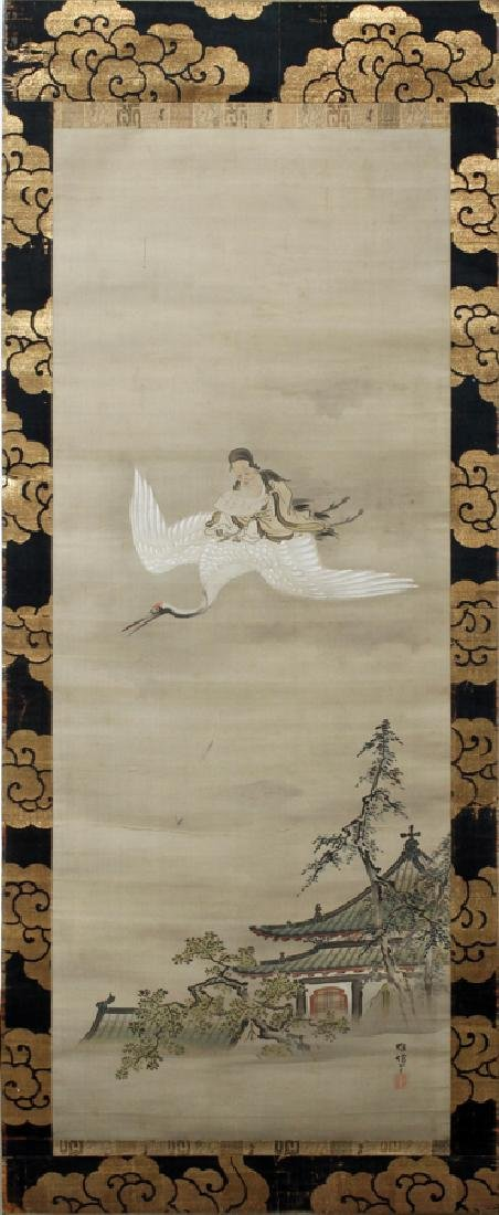 CHINESE HAND-PAINTED SCROLL