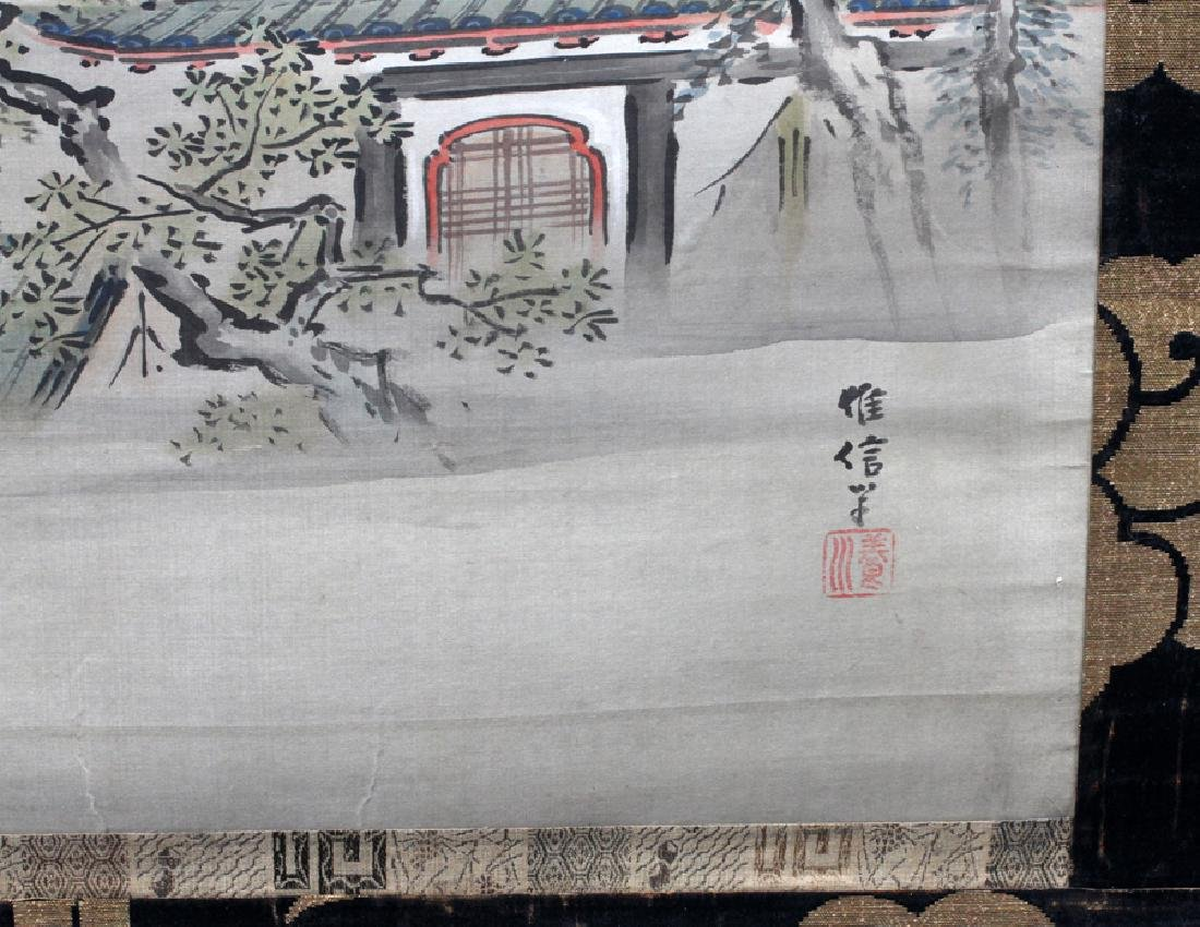 CHINESE HAND-PAINTED SCROLL - 2