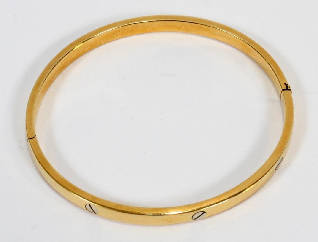WHITE & YELLOW GOLD, BANGLE BRACELET - 2