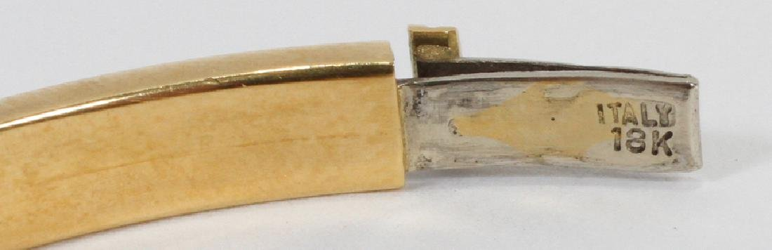 WHITE & YELLOW GOLD, BANGLE BRACELET - 3