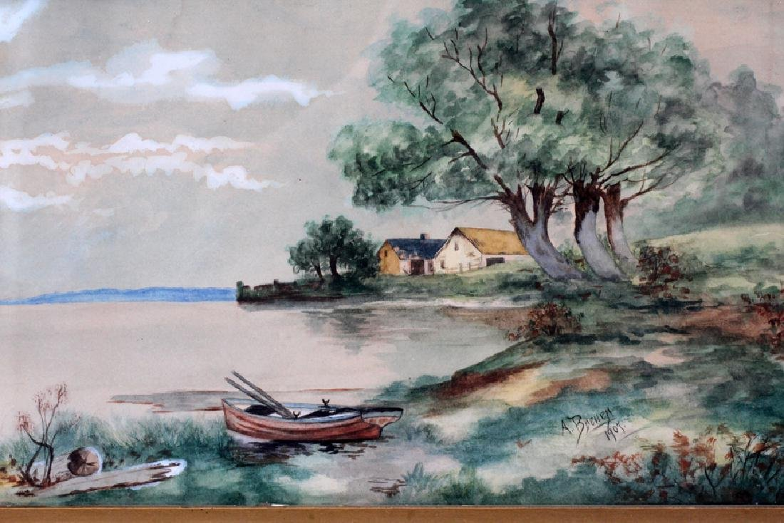 A. BREUER, WATERCOLOR ON PAPER, 1907 - 2
